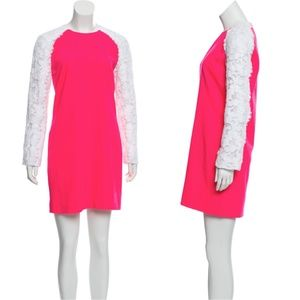 CHRISTOPHER KANE Lace-Accented Mini Dress